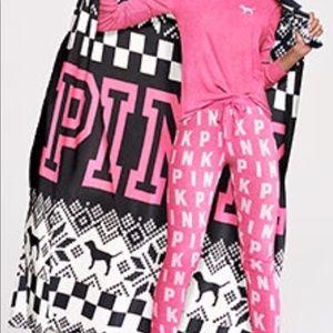 Victoria's Secret pink blanket soft